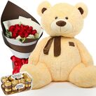 buy birthday flowers bears and chocolates in vietnam
