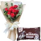 buy anniversary flowers with chocolates in vietnam