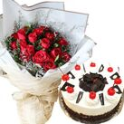 send anniversary flowers with cakes in vietnam