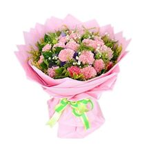 19 carnations with green leaves to vietnam