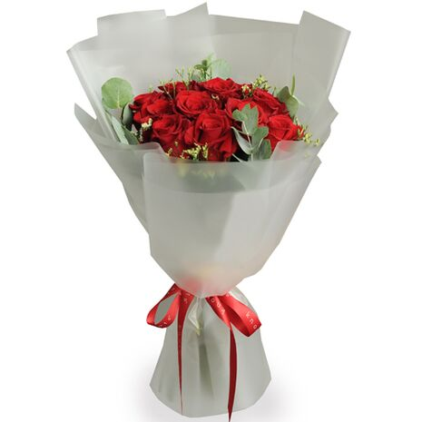 send 12 premium long stemmed red roses to japan