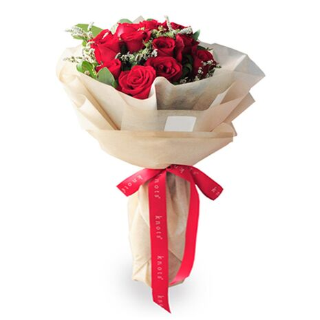 one dozen red roses match with small floral delivery to vietnam
