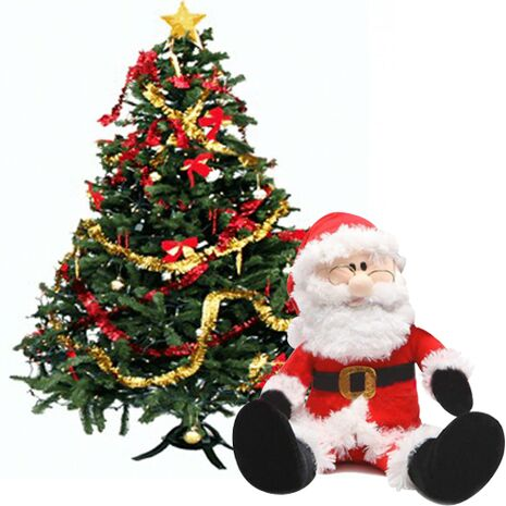 send decorated christmas tree with a cuddly santa claus to vietnam