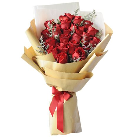 send 24 champagne roses with small floral delivery to vietnam