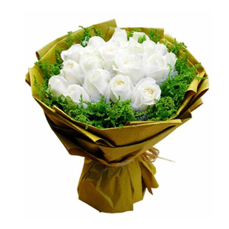 white roses surrounded by canada goldenrod send to vietnam