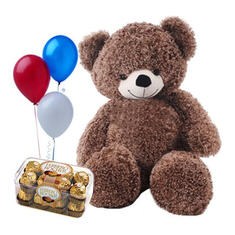 send teddy bear ferrero chocolate and balloons to vietnam