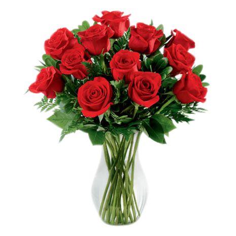 one dozen classic red roses to vietnam