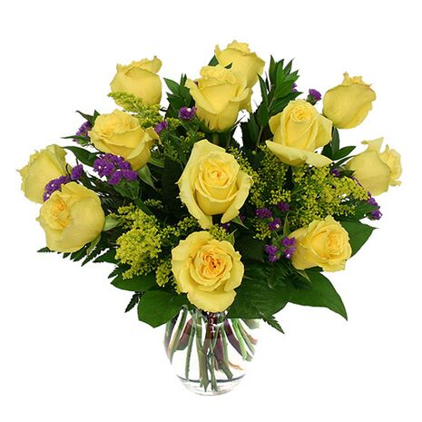 one dozen yellow roses to vietnam