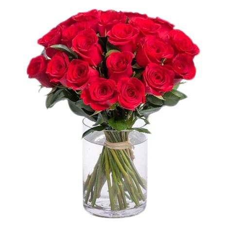 two dozen beautiful red roses to vietnam