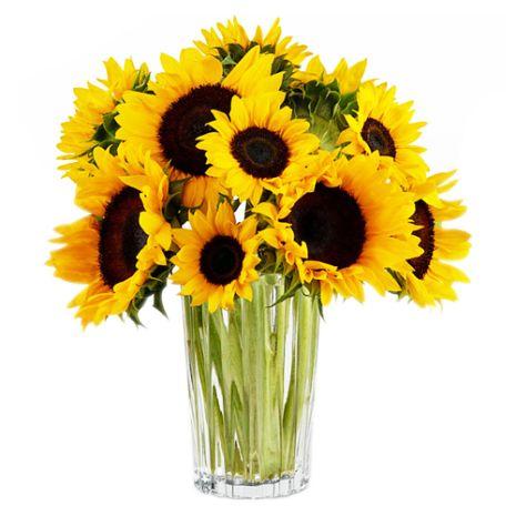 send sunflower in a glass vase to vietnam